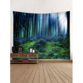 Forest Printed Wall Tapestry Hanging Decoration - CORNFLOWER BLUE W91 INCH * L71 INCH