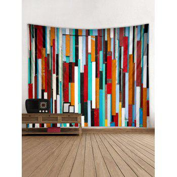 Colorful Wooden Printed Wall Tapestry Hanging Decoration - multicolor W91 INCH * L71 INCH