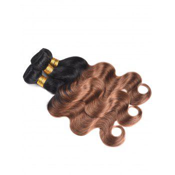 Indian Human Hair Colormix Body Wave Hair Weaves - multicolor T 16INCH*16INCH*16INCH