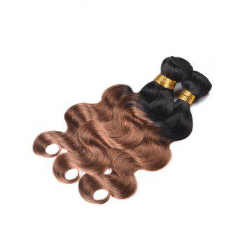 Indian Human Hair Colormix Body Wave Hair Weaves - multicolor T 14INCH*14INCH*14INCH