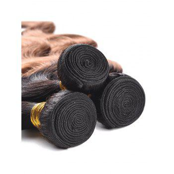 Indian Human Hair Colormix Body Wave Hair Weaves - multicolor T 12INCH*12INCH*12INCH