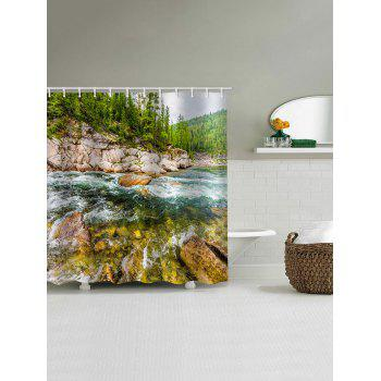 Natural Scene Print Waterproof Bathroom Curtain - multicolor W71 INCH * L71 INCH