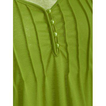 Cutwork Lace V Neck Top - GREEN ONION S