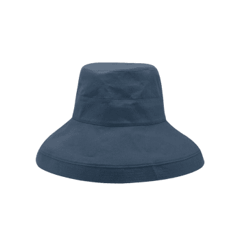 Outdoor Solid Color Wide Brim Travel Hat - MARBLE BLUE