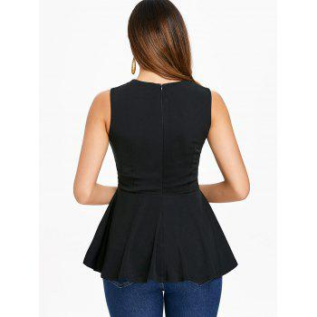 Sleeveless Lace Up Top - BLACK 2XL