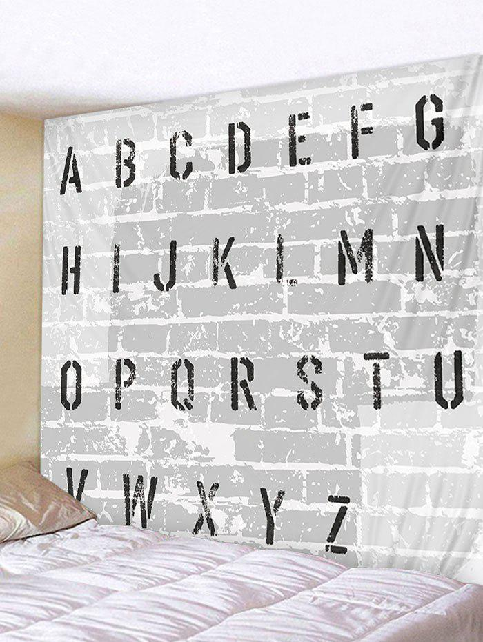 Letter Stonewall Print Tapestry Wall Art Decoration - multicolor W71 INCH * L71 INCH