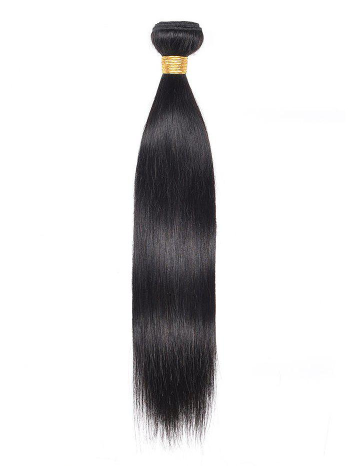 1Pc Straight Indian Virgin Human Hair Weave - BLACK 14INCH