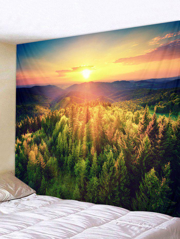 f08072a04fa Sunshine Forest Print Wall Tapestry Hanging Decor