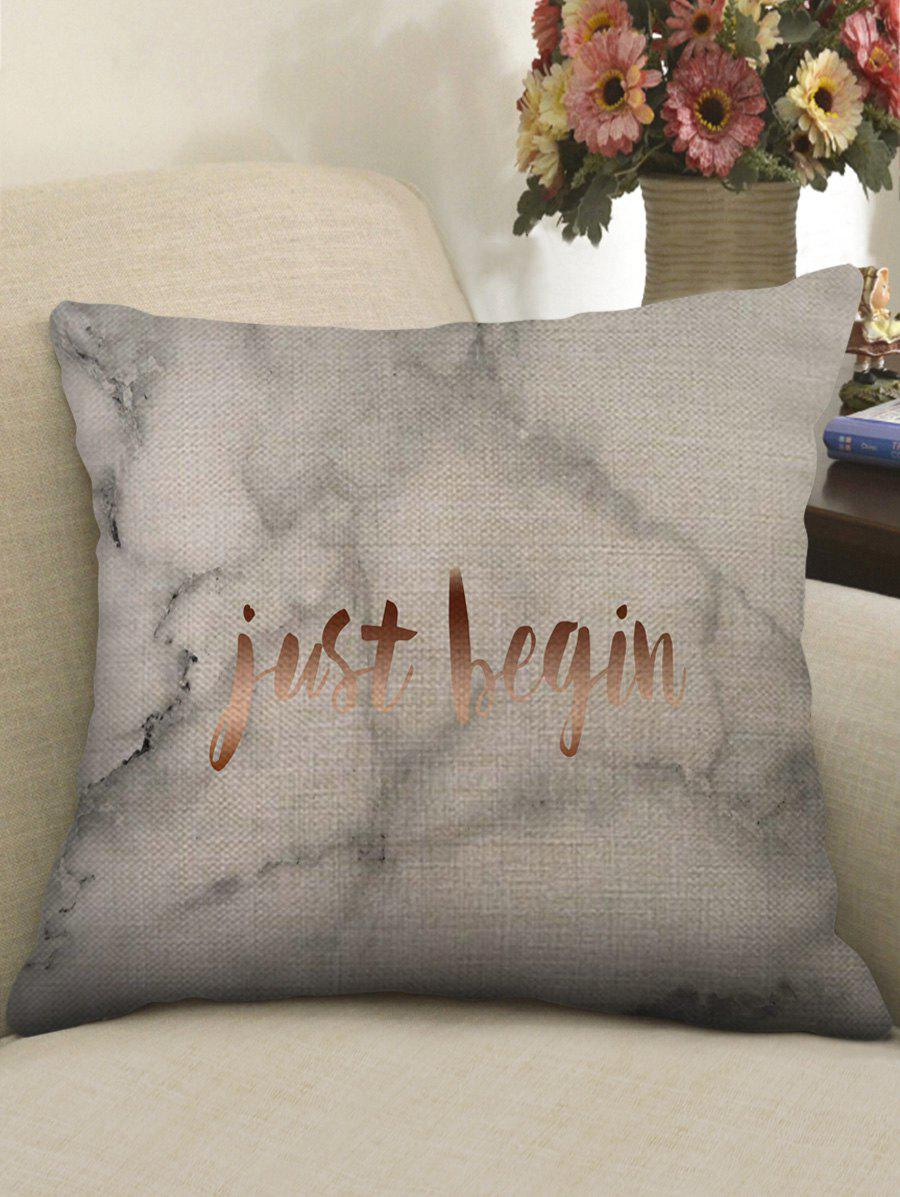 Marble Grain and Letters Pillow Case - multicolor W17.5 INCH * L17.5 INCH
