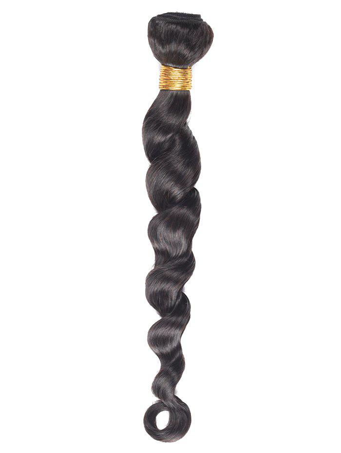 1Pc Body Wave Indian Virgin Human Hair Weave - BLACK 18INCH
