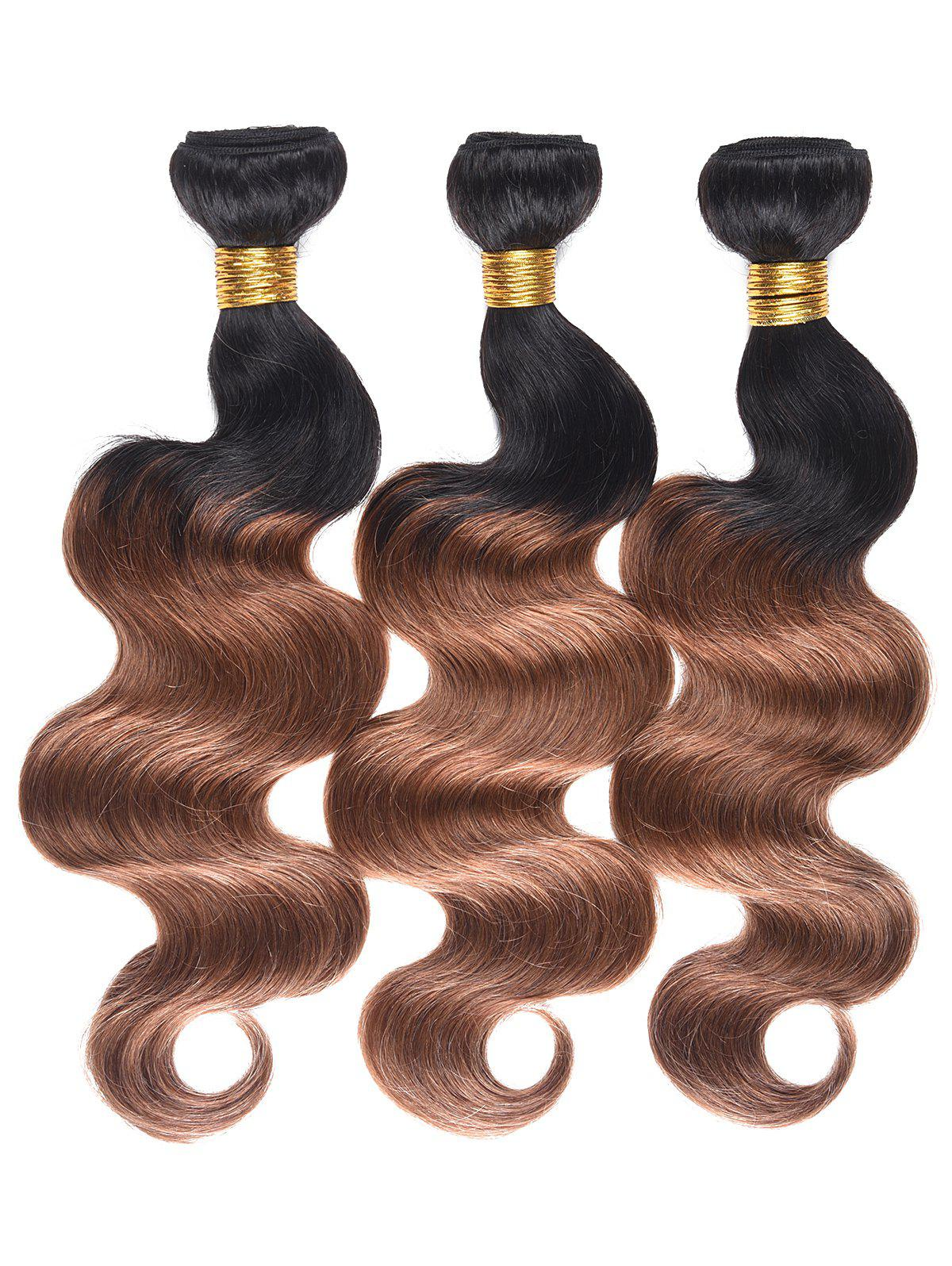 Indian Human Hair Colormix Body Wave Hair Weaves - multicolor T 20INCH*20INCH*20INCH