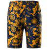 Retro Floral Chain Print Bermuda Shorts - GOLD M