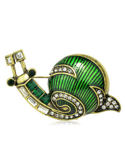 Broche Décoration de Vêtement Escargot Design en Alliage - Vert