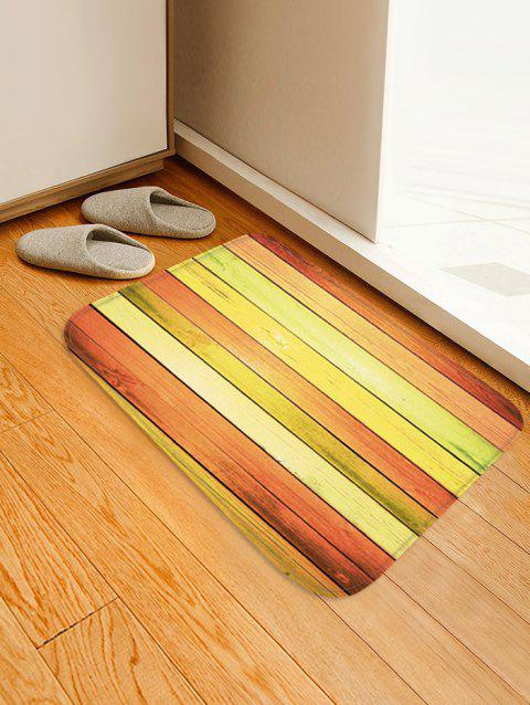 Colorful Wood Flooring Pattern Anti-slid Floor Area Rug - multicolor W20 INCH * L31.5 INCH