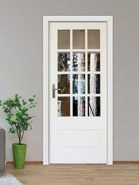 Windowed Door Print Door Decals - WHITE 38.5*200CM*2PCS