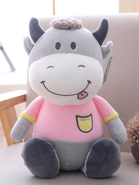Cartoon Cow Birthday Gift Plush Toy - PINK