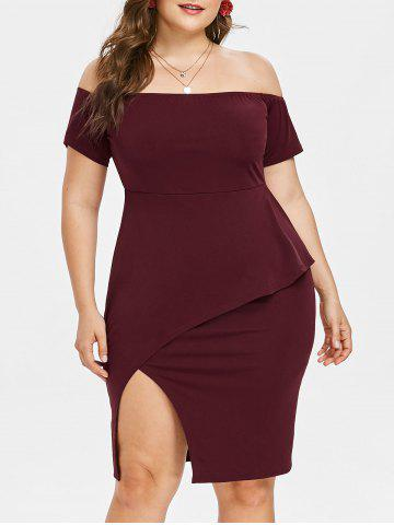 22edb85131 2019 Slit Plus Size Dress Best Online For Sale