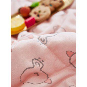 Cartoon Duckling Pattern Soft Throw Blanket - PINK BUBBLEGUM W39INCH*L55INCH