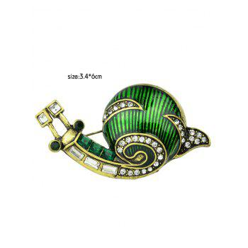 Snail Design Clothes Decoration Alloy Brooch - GREEN
