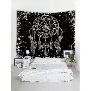 Dream Catcher Print Tapestry Wall Art - BLACK W71 INCH * L71 INCH