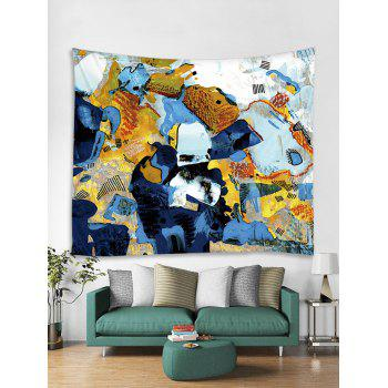 Abstract Graffiti Print Tapestry Wall Art - multicolor W71 INCH * L71 INCH