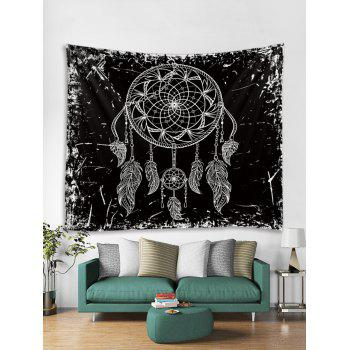 Dream Catcher Print Tapestry Wall Art - BLACK W79 INCH * L59 INCH