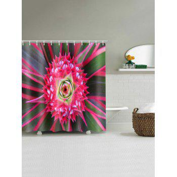 Flower Water Resistant Shower Curtains - multicolor W71 INCH * L71 INCH
