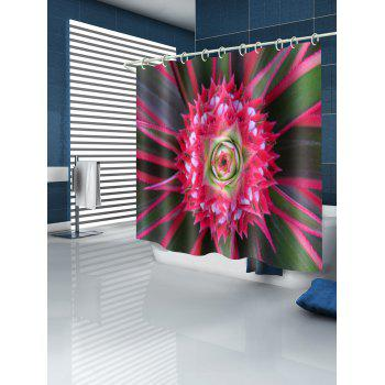 Flower Water Resistant Shower Curtains - multicolor W59 INCH * L71 INCH