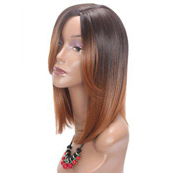 Medium Colormix Side Parting Straight Synthetic Wig - multicolor