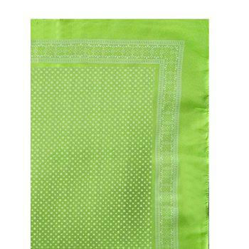 Polka Dot Decorative Silky Head Scarf - CHARTREUSE