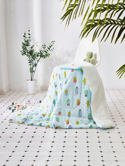 Potted Plant Soft Towel Blanket - LIGHT SLATE W39INCH*L55INCH
