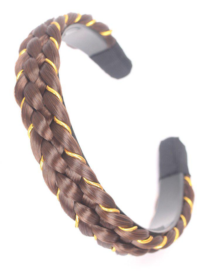 Synthetic Fiber Wig Braid Hair Band - GOLD