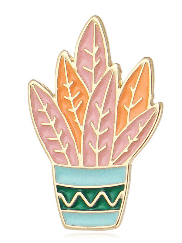 Cactus Design Brooch - ORANGE