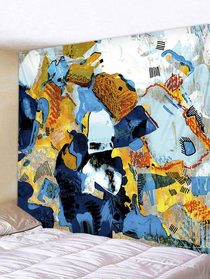 Abstract Graffiti Print Tapestry Wall Art - multicolor W79 INCH * L71 INCH