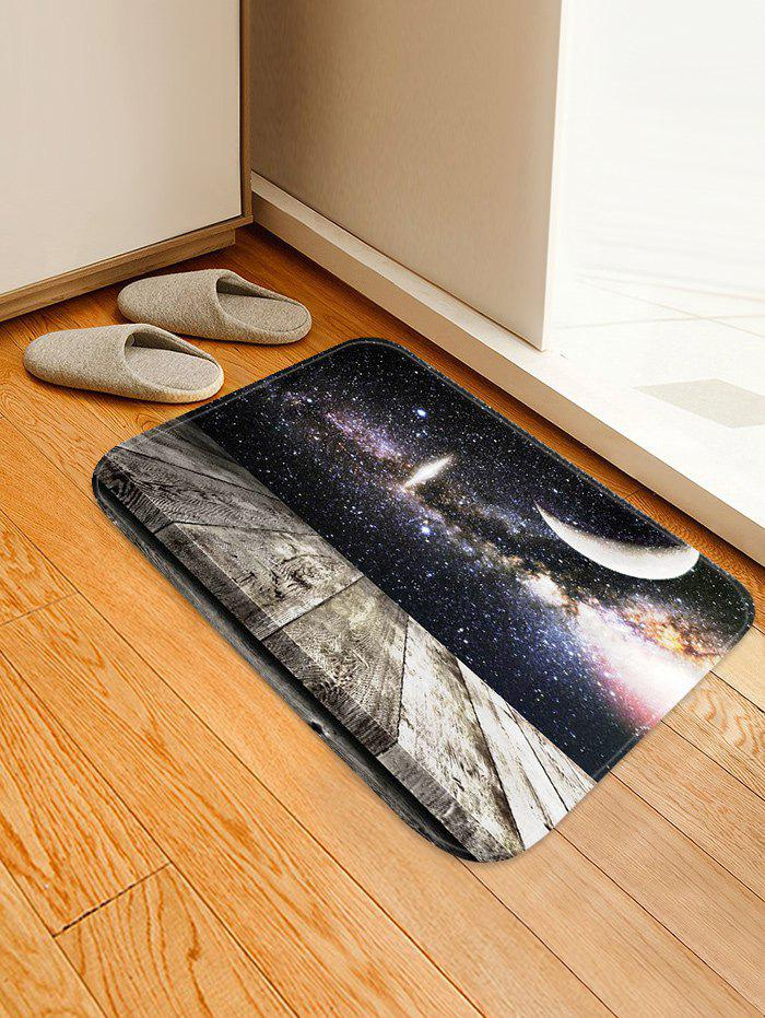 Milky Way Wood Grain Print Anti-skid Floor Area Rug - multicolor W16 INCH * L24 INCH