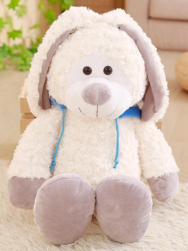 Hoodie Rabbit Shape Plush Toy - SKY BLUE