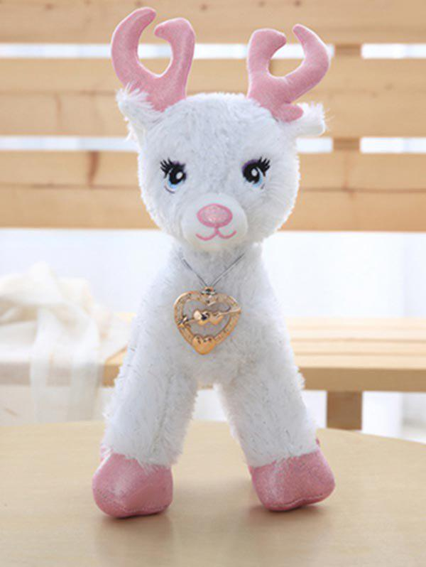 Love Heart Deer Plush Toy - LIGHT PINK