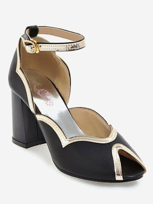 cac88973f4eb Plus Size Chunky Heel Ankle Strap Chic Sandals – BLACK 40. Special style Lulus  Ankle Strap Heels Natural Women Best Reputation Single Sole Heels Sexy ...