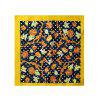 Stylish Flourishing Flower Silky Head Scarf - multicolor B