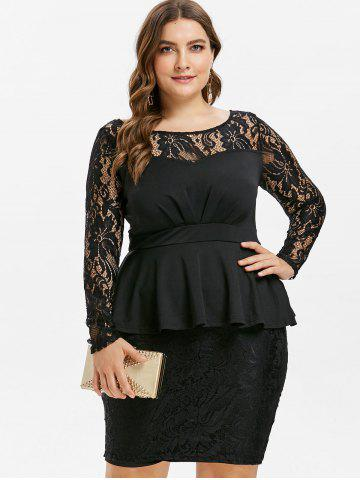 Bodycon Plus Size Vestido De Peplum