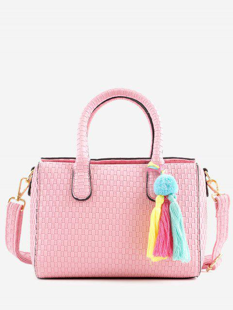 Tassels Chic Braid Minimalist Holiday Handbag - PINK