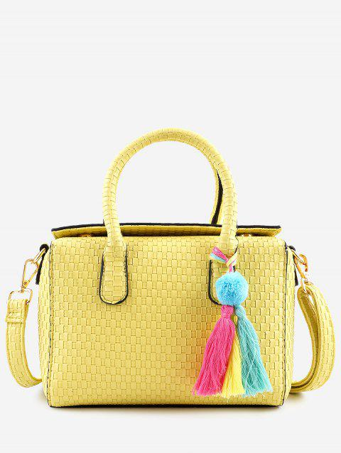 Tassels Chic Braid Minimalist Holiday Handbag - YELLOW