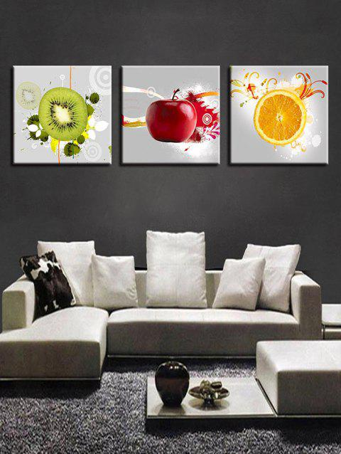 Concise Fruit Print Split Canvas Paintings - multicolor 3PC:12*12 INCH( NO FRAME )