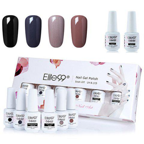 Elite99 Deep 4 Colors UV LED Soak Off Gel Nail Polish Set - 01