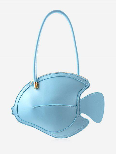 Personalized Fish Shaped Minimalist Handbag - SKY BLUE