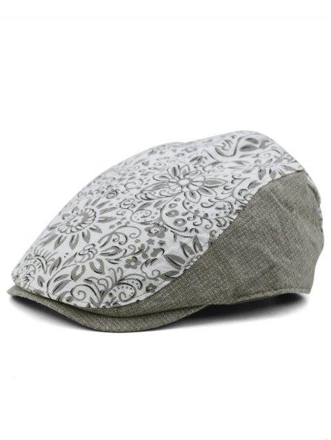 Vintage Blooming Floral Jeff Hat - GRAY