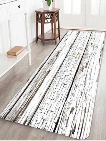 Peeling Wood Floor Print Anti-skid Floor Area Rug