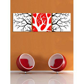 Wall Art Split Branches Pattern Canvas Paintings - multicolor 3PC:16*16 INCH( NO FRAME )