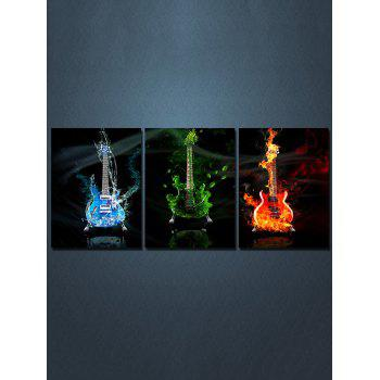 Guitars Print Split Wall Art Canvas Paintings - multicolor 3PC:12*18 INCH( NO FRAME )