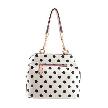 Vintage Polka Dot Bowknot Shoulder Bag - PINK